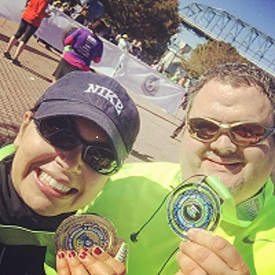 Runners completed the 7 Bridges Marathon