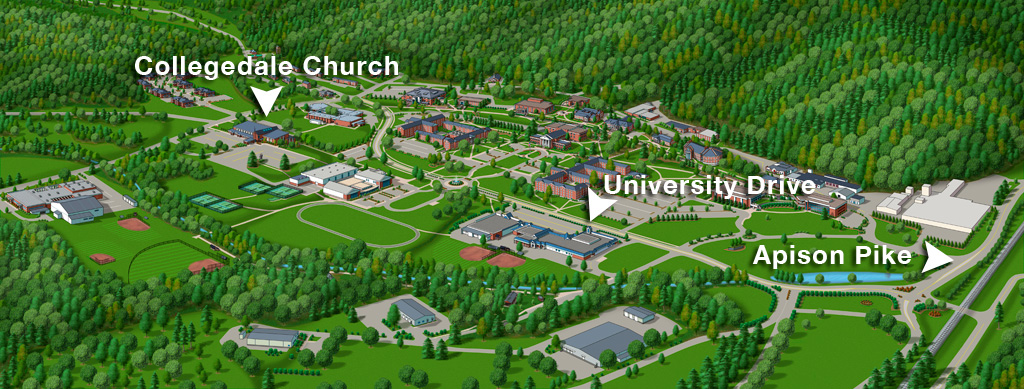 southern adventist university campus map Meet The Firm Directions Southern Adventist University