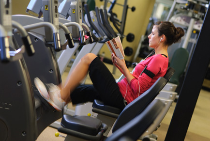 The Hulsey Wellness Center has a variety of options to stay fit.